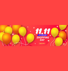 1111 discount banner template poster with vector