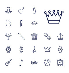 22 classic icons vector