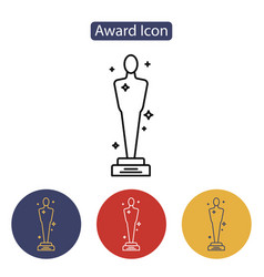 academy awards icon vector image