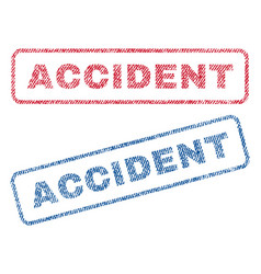 Accident textile stamps vector