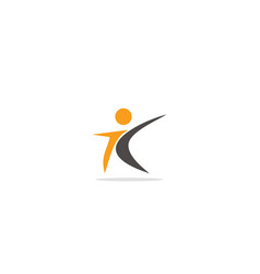 active people abstract logo vector image