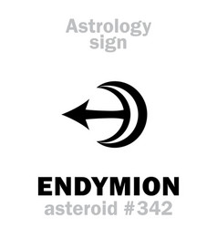 astrology asteroid endymion vector image