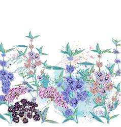 Beautiful wild spring flowers vector