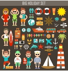 Big holiday set vector image