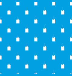 Black tag pattern seamless blue vector