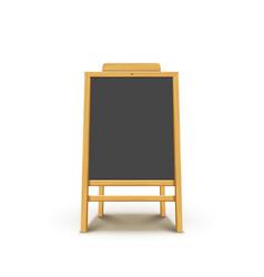 blackboard easel wooden menu chalkboard vector image