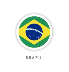 Brazil circle flag template design vector