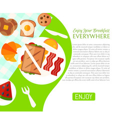 breakfast picnic in the park poster vector image