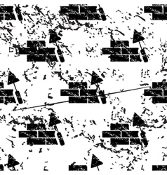 Building wall pattern grunge monochrome vector image