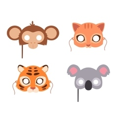 Cartoon animal party mask vector image