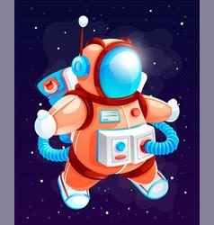 Cartoon astronaut cosmonaut vector