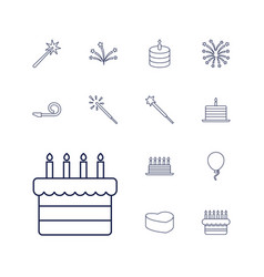 Celebrate icons vector