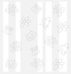 Childish white background vector