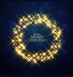 Christmas background with sparkles glitter frame vector