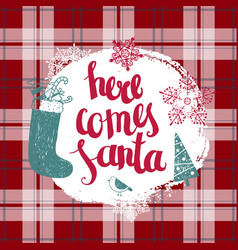 christmas new year lettering vector image