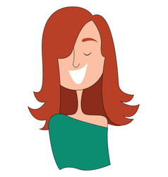 Clipart a girl having a big smile on her face vector