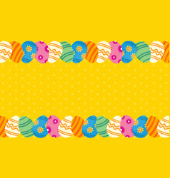 Collection of easter theme greeting card vector