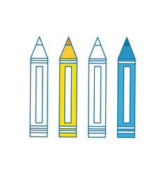 Colors pencils icon vector