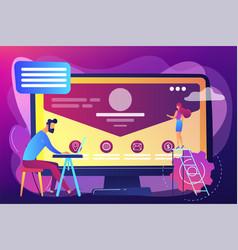 corporate website concept vector image