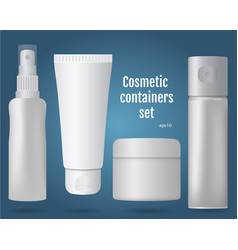 Cosmetic containers set vector