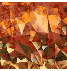 Creative stylized background of triangles vector