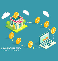 cryptocurrency exchange process infographic vector image