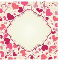 cute hearts frame vector image