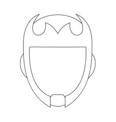Design of hero and mask icon set of hero vector
