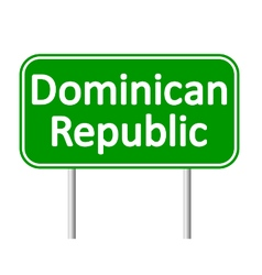 Dominican Republic road sign vector image