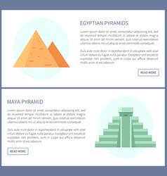Egyptian and maya pyramids vector