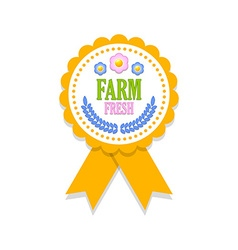 Farm fresh rosette vector image