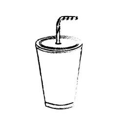 Figure tasty soda drink beverage vector