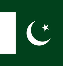 flag in colors of islamic republic of pakistan vector image