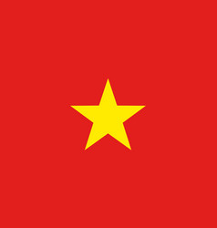 Flag of socialist republic of vietnam vector