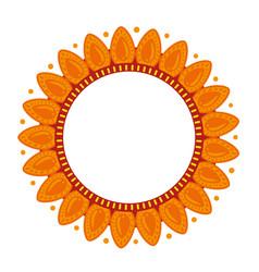 Floral ethnic mandala decorative isolated icon vector