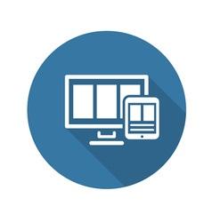 Fully Responsive Web Design Icon vector