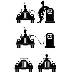 gasoline vector image