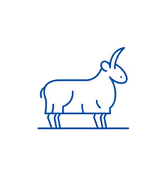 goat line icon concept goat flat symbol vector image