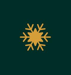 Gold snowflake icon snow pictogram winter symbol vector