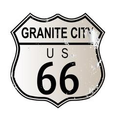 Granite city route 66 vector