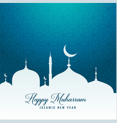 Happy muharram design background wallpaper vector