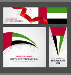 Happy uae independence day banner and background vector