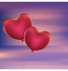 Heart Shaped Balloons5 vector image