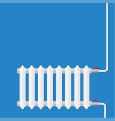 Heating radiator retro heating system vector
