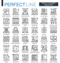 Heavy power industry outline concept symbols vector