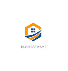 home realty sign business logo vector image