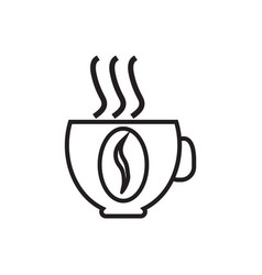 icon with a picture of a cup of coffee contour vector image