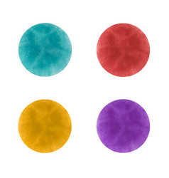 Ink spots blue turquoise red and purple vector