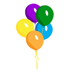 Isolated group of balloons vector