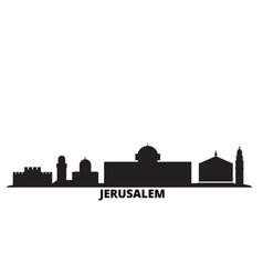 Israel jerusalem city skyline isolated vector